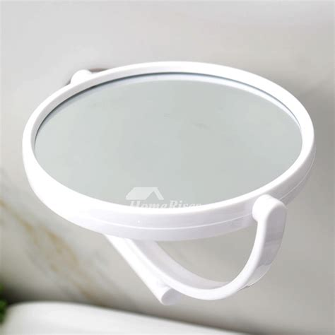 Bathroom Suction Mirror by Modern Suction Cup Small Makeup Mirror White Bathroom Plastic