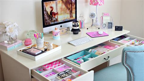 see through makeup desk desk organization ideas how to organize your desk youtube