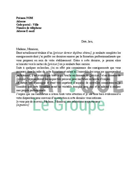 lettre de motivation cap cuisine greta lettre de motivation pour formation pratique fr