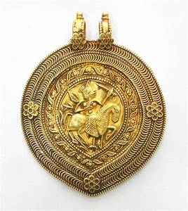 Rare! ancient antique collectible solid 23k Gold amulet ...