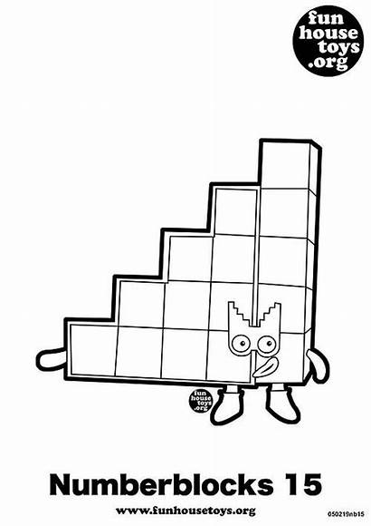 Numberblocks Coloring Pages Printable Toys Fun Colouring