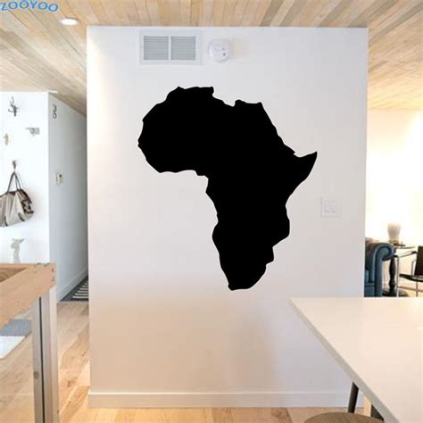 Wall maps worldwide to street level. ZOOYOO Map Of Africa Wall Stickers Classic Bedroom Wall ...