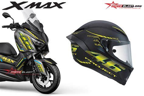 Modification Xmax 250 by Modifikasi Striping Yamaha Xmax Livery Helmet Vr46 Project