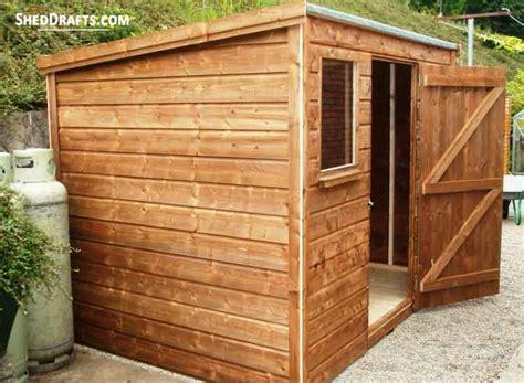 lean  garden shed plans blueprints  beautiful