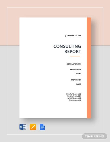 professional report template word   sample