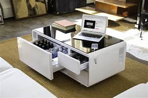 Table Basse High Tech : sobro the smart coffee table with a built in fridge and speakers nechstar ~ Melissatoandfro.com Idées de Décoration