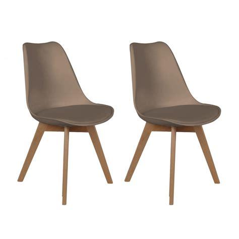 chaises discount lot de 2 chaises design scandinaves pas cher pieds en bois