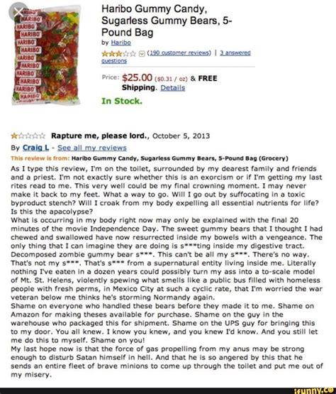 Haribo Gummy Candy, Sugarless Gummy Bears, 5- Pound Bag by ...