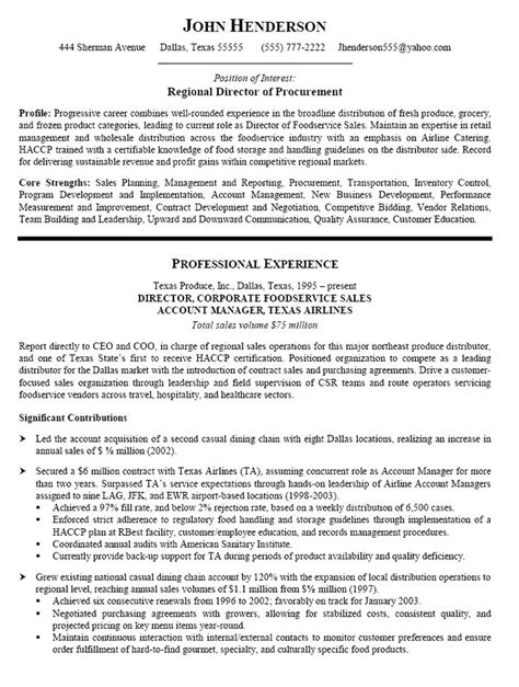 Financial Analyst Resume Sle by Resume Sle For Procurement Search Tipsresume