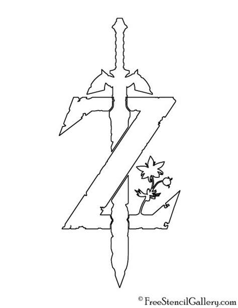 zelda breath   wild logo stencil  stencil gallery