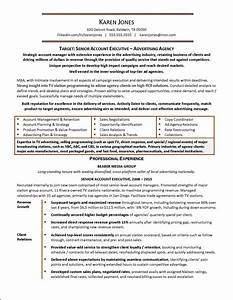 Advertising agency example resume for Advertising resume