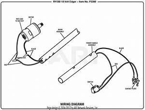 Homelite P2300 18 Volt Edger Mfg  No  090265001 Parts