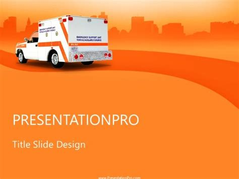ems powerpoint template background  medical healthcare