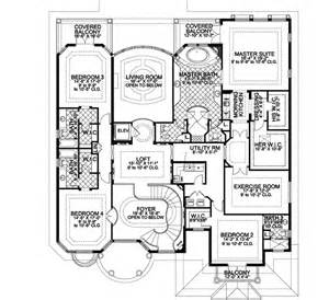Harmonious Two Master Suites House Plans by Florida Style House Plans 6664 Square Foot Home 2