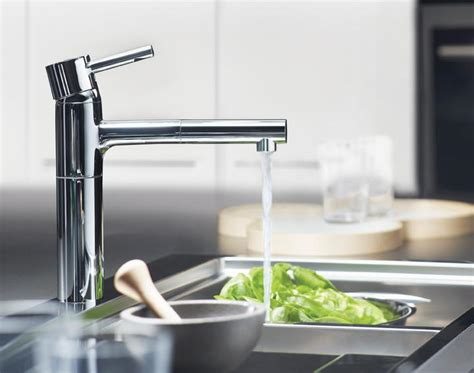 Grohe Essence Kitchen Faucet by Grohe 32170000 Essence Single Spray Pull Out Kitchen
