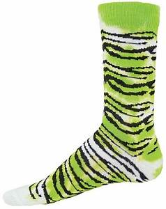 Tiger Stripe Socks Red Lion Tie Dye Tiger Crew Socks