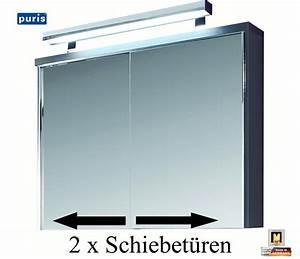 Spiegelschrank 90 Cm Breit : puris solit r spiegelschrank 90 cm breite mit schiebet ren s2a499a10 impuls home ~ Frokenaadalensverden.com Haus und Dekorationen