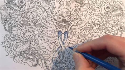 lost ocean coloring book page  part   octopus