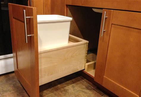 under sink garbage pull out under sink garbage pull out traditional kitchen new
