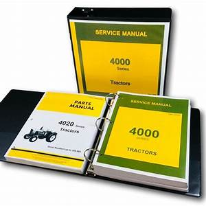 Service Manual For John Deere 4020 4000 Tractor Technical