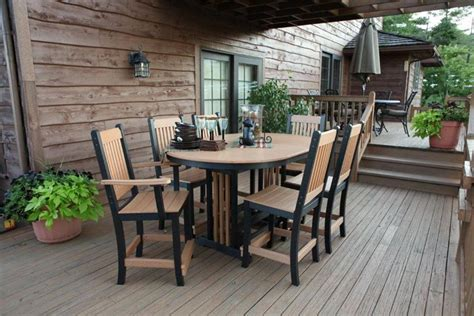 amish poly outdoor patio dining set 14077