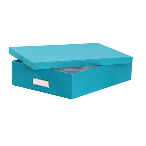 boite bureau boîte de rangement a4 en turquoise rangement bureau