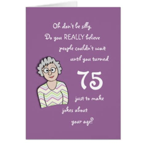 75th birthday quotes funny