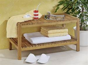 Badezimmer Regal Holz : badezimmerbank bank ablage regal badregal oder ~ Watch28wear.com Haus und Dekorationen