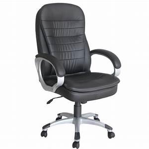 Arebos Fauteuil Siège Chaise De Bureau noir Achat / Vente chaise de bureau Noir Cdiscount