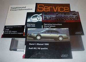 1996 Audi A6 Sedan Owners Manual Set Guide 96 Quattro W