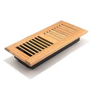 4x10 inch louvered light wood floor register aofroll410