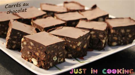 cuisine sans cuisson recette de carrés au chocolat sans cuisson