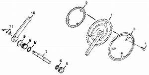 Crank  Chain Wheel  U0026 Chain Guard Assembly Diagram  U0026 Parts