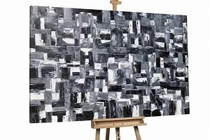 Leinwandbilder Schwarz Weiß : abstraktes xxl gem lde in schwarz wei kaufen kunstloft ~ Markanthonyermac.com Haus und Dekorationen