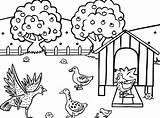 Sketsa Farm Coloring Gambar Flora Fauna Dan Mudah Indonesia Jobs sketch template