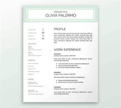 10 free docs resume templates to your application