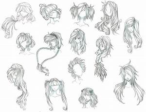Drawn hair anime - Pencil and in color drawn hair anime