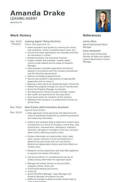 Leasing Resume Templates by Leasing Resume Sles Leasing Manager Resume If