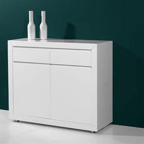 High Gloss White Sideboard by Fino Modern High Gloss White 2 Door Sideboard With 2