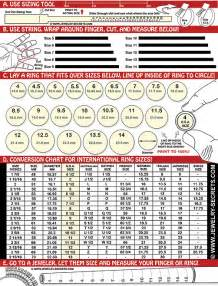 free printable ring finger size chart jewelry secrets