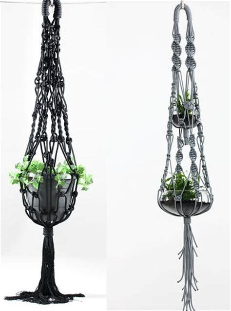 decoracion  macrame lamparas  macetas decoracion