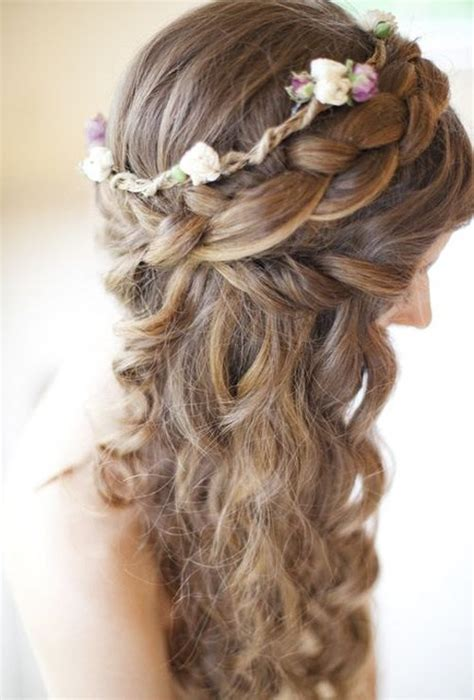 Wedding Hairstyles For Hair With Braids by Wedding Curly Hairstyles 20 Best Ideas For Stylish Brides