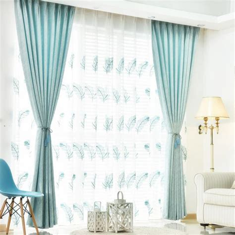 elegant embroidered sheer peacock feather curtains  windows