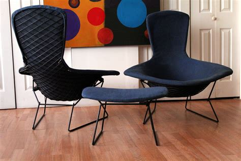 authentic vintage harry bertoia knoll bird chairs and