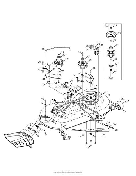 Troy Bilt Bronco Deck Belt Length by Troy Bilt 13wv78ks011 Bronco 2015 Parts Diagram For