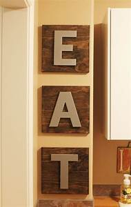 kitchen wall decor diy eat wooden boards