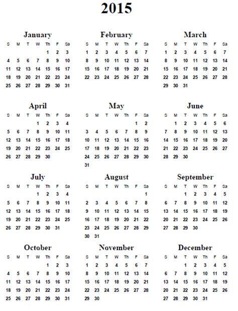 2015 Printable Calendars 5 Best Images Of 2015 Calendar Printable 2015 Calendar