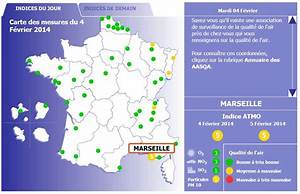 Carte France Pollution : qu 39 indique la carte de la pollution de l 39 air en france ~ Medecine-chirurgie-esthetiques.com Avis de Voitures