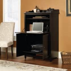 Cheap Glass Cabinets by Hidden Computer Desk With Black Color Desk And Laminate