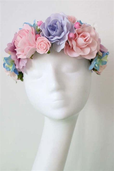 flores  el pelo corona de flores hecho  mano por
